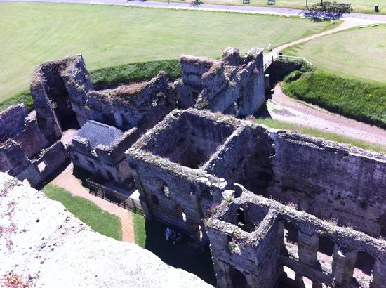 Portchester Castle: Taken from the leads