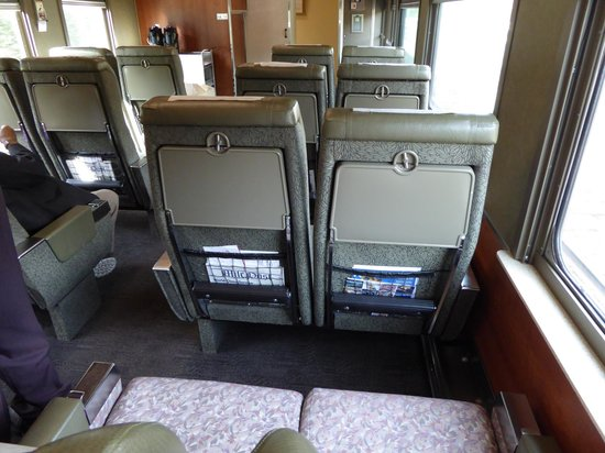 The Rocky Mountaineer: Spacious seating