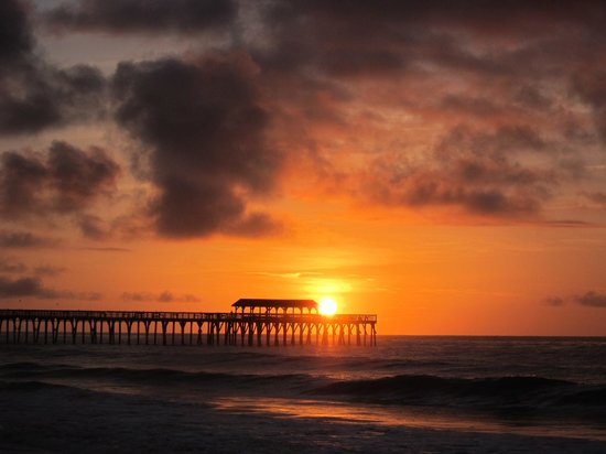 Myrtle Beach State Park Sunset Of The Mb Pier