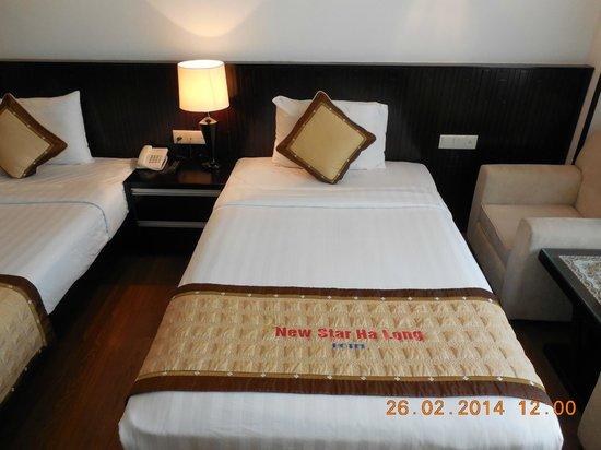 New Star Ha Long Hotel: łóżko
