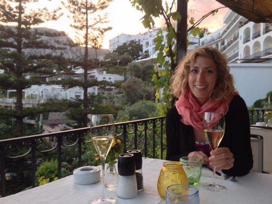 Al Chiaro Di Luna: One of the views from the restaurant!
