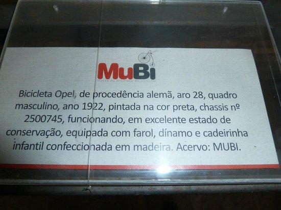 Museu da Bicicleta de Joinville: Descrições