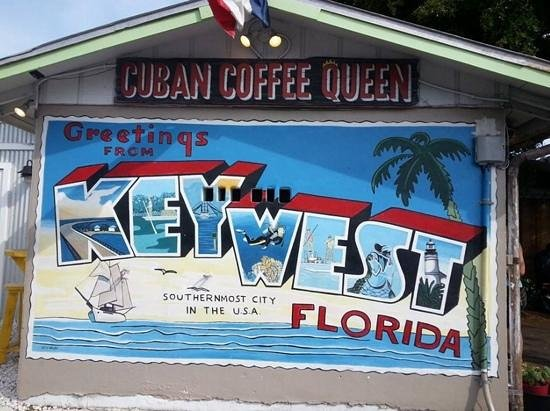 Cuban Coffee Queen : sign on the side of building