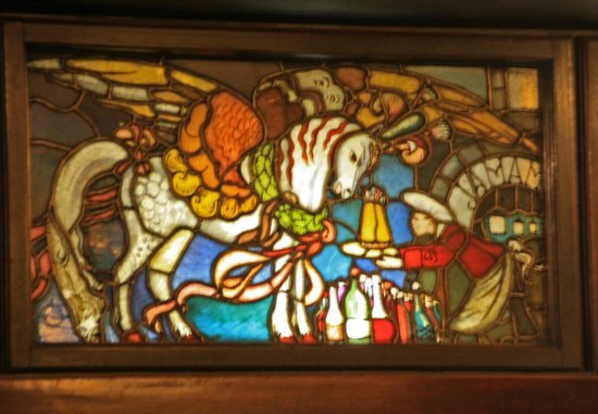 Jama Michalika: Stained glass window