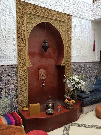 Riad Darija : Detalle del patio