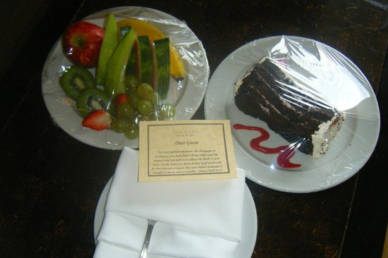 Secrets Wild Orchid Montego Bay: My welcome treats for my birthday