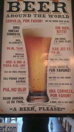 Le Cafe des Z'Arts: beer sign