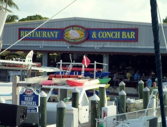 Conch Republic Seafood: view from the boat