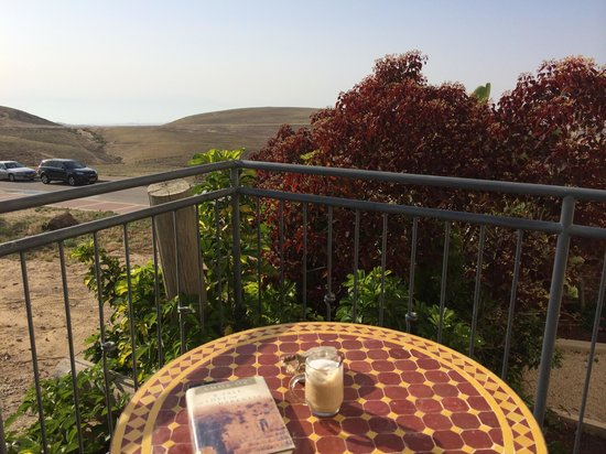 Yehelim Boutique Hotel: Morning latte on room terrace