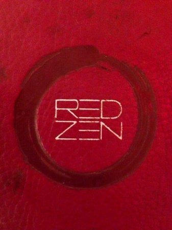 Red Zen: Menu cover