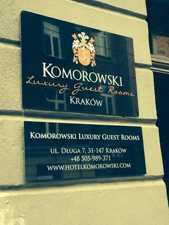 Komorowski Luxury Guest Rooms: this is where it begins