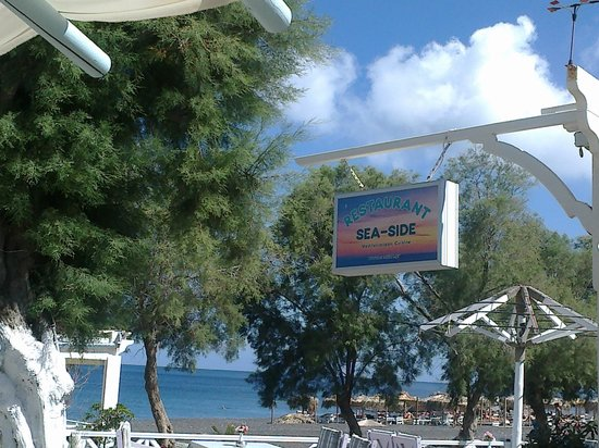 Sea Side Restaurant: Sea Side Schild