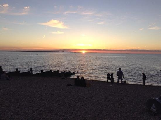 The Whitstable Oyster Company: Sun set outside the WOC