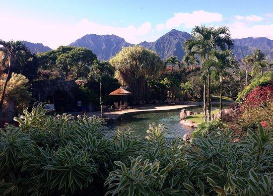 Hanalei Bay Resort: Upper pool, view near lobby