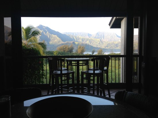 Hanalei Bay Resort: Plumeria 8232 view from dining room