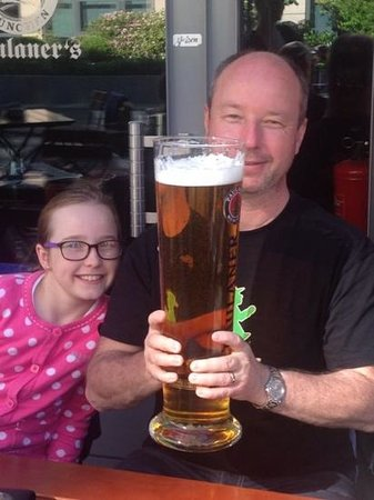 Paulaners: 3L glass of beer
