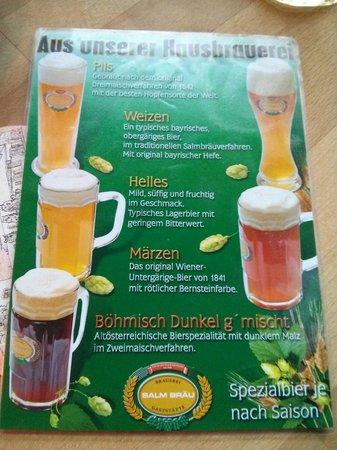 Salm Bräu: Las cervezas