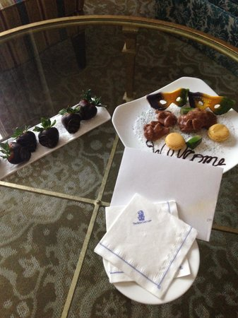 The Ritz-Carlton, New Orleans: Welcome treats
