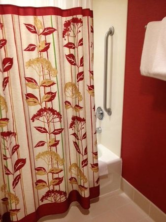 Courtyard Columbus Easton: Loved this shower curtain...