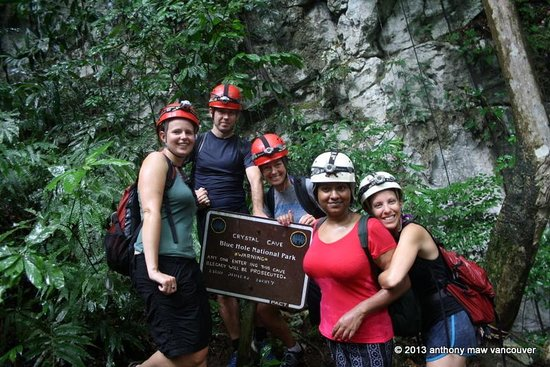 Crystal Cave: Anxious climbers before entry