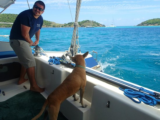 Kuralu Private Catamaran Charters: Roan & Grommet look after the guests