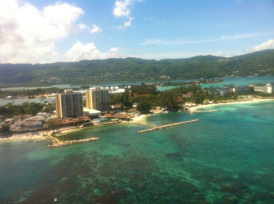 Sunscape Splash Montego Bay : View of Sunset Resort parasailing