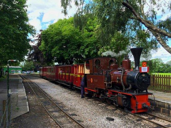 Leighton Buzzard Railway: Our locomotive for the day, Elf...