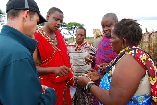 Campi ya Kanzi: Visiting a local village with Samson