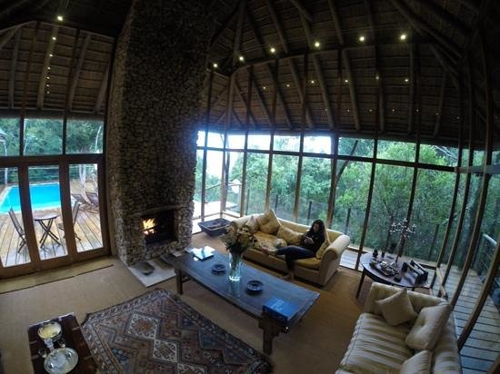 Forest Nature Spa: view through to the balcony and pool