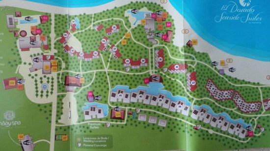 Resort map - Picture of Sensimar Resort Riviera Maya, Puerto ...