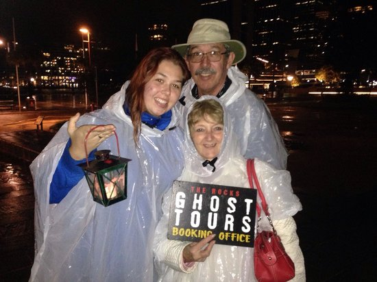 The Rocks Ghost Tours: A ghostly trio who could scare away any ghost. 😱