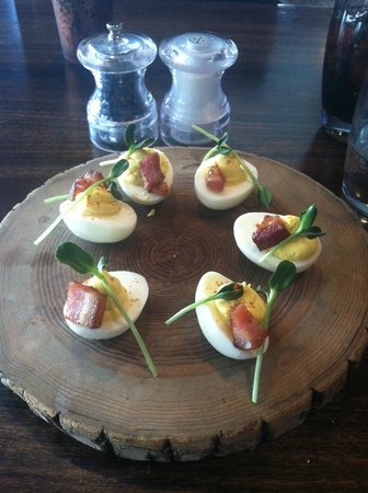 Grand Cascades Lodge: The infamous deviled eggs at Crystal Tavern