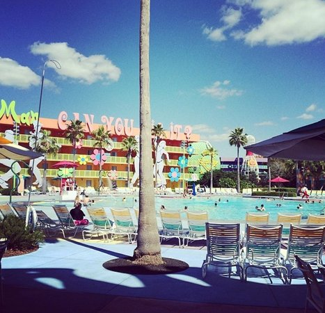 Disney's Pop Century Resort : The View From Our Preferred Pool View Room