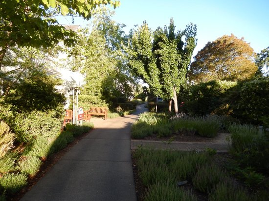 MacArthur Place - Sonoma's Historic Inn & Spa: lovely pathways, gardens and sculptures