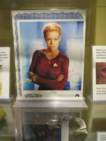 """Trekcetera Museum: 7 of 9 with her """"facial gear"""""""