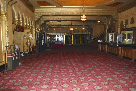 Fox Theatre: 1st floor foyer. The doors at the end were intended to be the entrance.