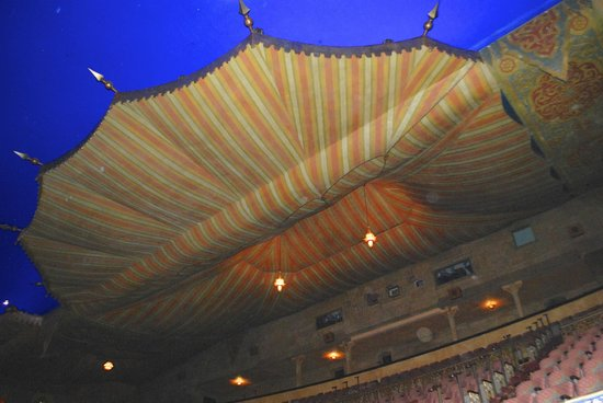 Fox Theatre: The bedouin canopy above the balcony. (It actually is made of plaster.)