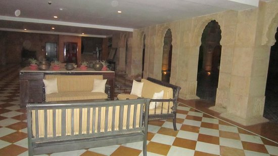 Suryagarh : Right outside of our rooms, little sitting area.