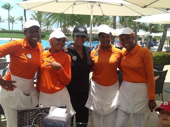 Hard Rock Hotel & Casino Punta Cana: VIP Legendary pool staff:  Daniela C., Esmera, Kenia, Olga, Angela