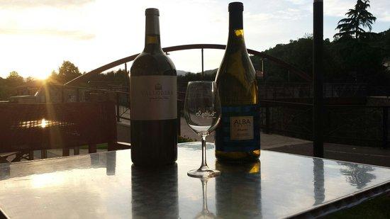 Restaurante El Palco: Atardecer en la terraza del palco