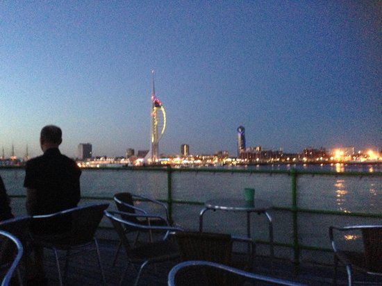 Trinity's At The Lightship: View of portsmouth   from lightship