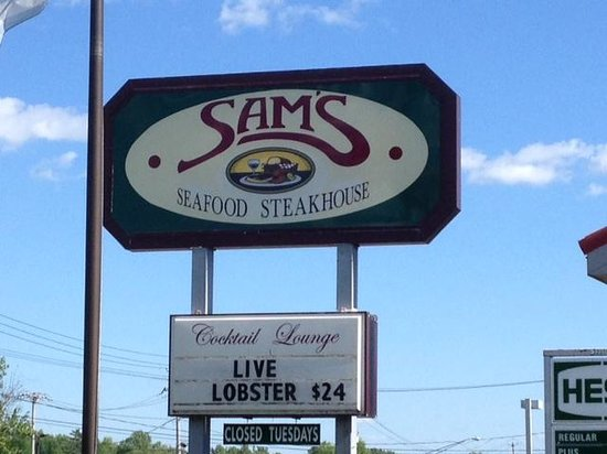 Sam's Steak and Seafood: Sign