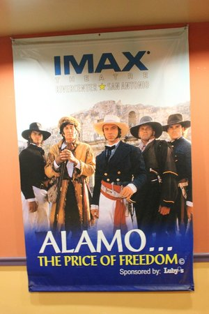 Alamo IMAX Theatre: The sign of a must see!