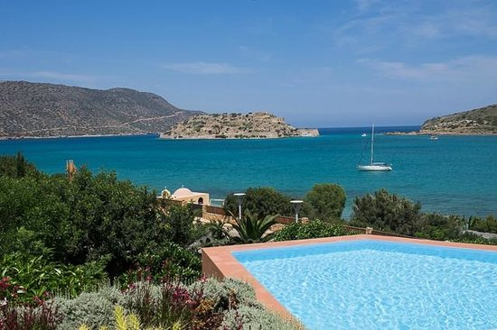Domes of Elounda, Autograph Collection: View from hotel lobby to Spinalonga