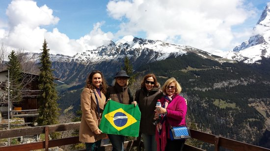 Jungfraujoch: A Suíça  com a  nossa   bandera