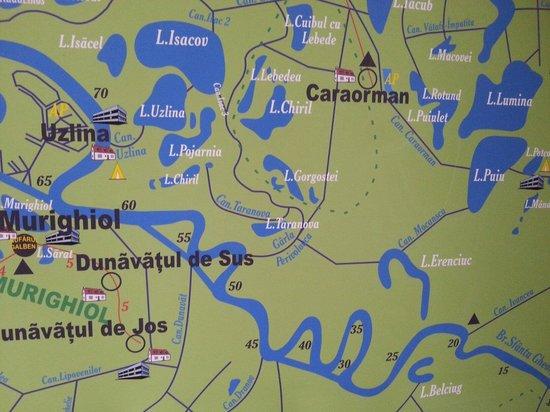 Danube Delta: Part of delta map