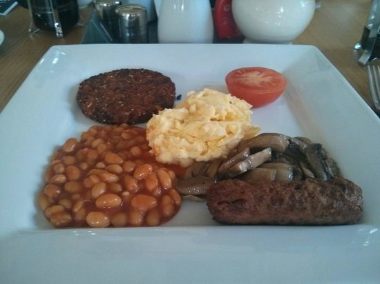 The Salisbury Guesthouse: The delicious vegetarian breakfast.