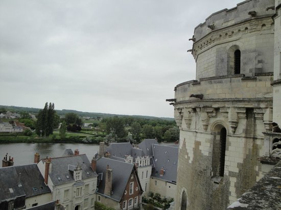 Chateau d'Amboise: Vista desde una terraza del Castillo de Amboise,Francia