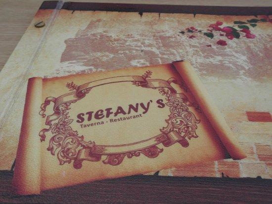 Stefany's Restaurant : menus