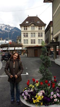 """City Swiss Q Hotel Oberland: As  Tulipas  em  canteiros  na""""  rua"""""""